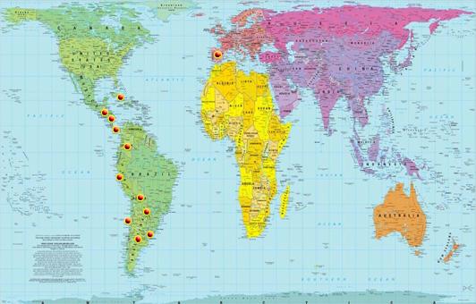 mapa del mundo. Proyectos de Argentina -